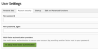On the Account security tab you will find the settings for MFA